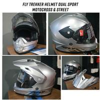 Fly Trekker Helmet Helm Dual Cross Dan Street Original