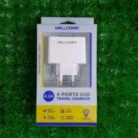 wellcomm 4 USB port Travel Charger perkakas