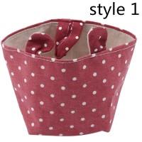 Keranjang Laundry / Mainan Bahan Katun Linen Bentuk Kotak Motif