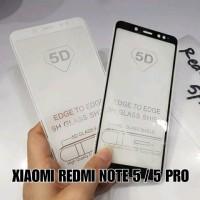 Tempered Glass Warna 5D Xiaomi Redmi Note 5 Pro Anti Gores Kaca S
