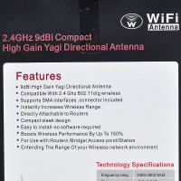 2.4GHz 9dbi SMA Omni Antena dengan Stand untuk WiFi Wireless Network