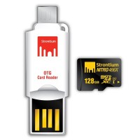 Strontium 128GB NITRO MicroSD with OTG Card Reader up to 70 mb/s