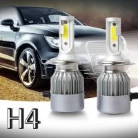 C6 Lampu LED COB H4 36W 7600LM Warna Putih untuk Headlight Mobil