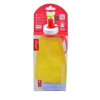 F Botol Air Minum Anak Portable Bahan Silikon Dapat Dilipat Untuk