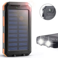 Louheart Power Bank Solar Panel Tenaga Surya 500000mah Anti Air