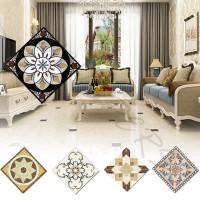 10Pcs Stiker Dinding Desain Ubin Diagonal Bahan Keramik untuk