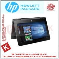 LAPTOP HP Pavilion X360 11-ab128TU Black - DualCore N4000-4GB-500