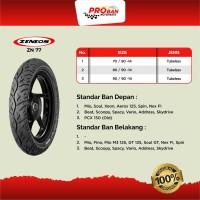 Dijual ZENEOS TL ZN 77 80/90 Ring 14 Ban Motor Tubeless Murah