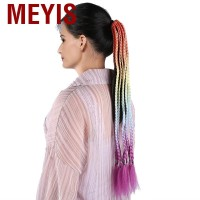 Meyis Dreadlocks Extensions Hair Hand Made Crochet High Temperature