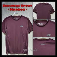 PROMO Skechers Man Running Sport Shirt Baju Kaos Atasan Olahraga Pria