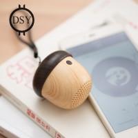 J2 Wooden Nut Wireless Mini Bluetooth Speaker Stereo Sound Bag