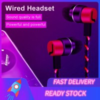 (Ready Stock) Earphone In-Ear Subwoofer Universal Dengan Kabel