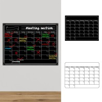 Reusable Magnetic Dry Erase Calendar Weekly Monthly Planner Board