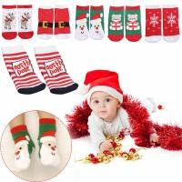 Christmas Kaos Kaki Anak Motif Natal Bahan Hangat