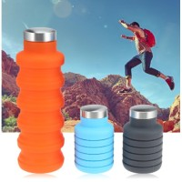 Botol Minum Model Portable, Dapat Dipanjangkan, Bahan Silikon, 500ml