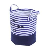 Keranjang Laundry / Pakaian Kotor Lipat Bahan Kanvas Motif Bintang