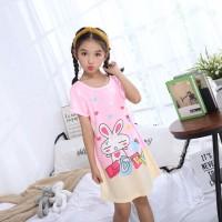 Gadis Tidur Rok Anak-anak piyama Kartun Princess Pajamas Milk Silk