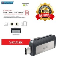 Flashdisk OTG Sandisk Dual Drive 64 GB USB 3.1 Type C ORIGINAL -