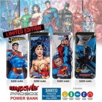 Powerbank Sanyo Probox Justice League 5200mAh (DC Comic Edition) Mura