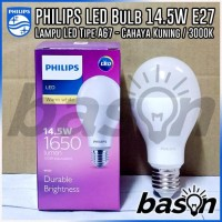 Promo|Best Quality| Philips Led Bulb 14.5W 3000K Warm White E27 A67