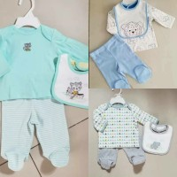Set baju bayi plus slabber/ set baju bayi import little me baby