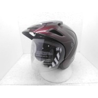 Cargloss CX Cargloss Helm Half Face - RED Maroon