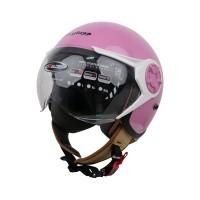 Cargloss YRH Avorio naide Helm Hijab halfface - Milkshake Pink