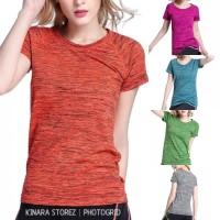 Kaos Sport Wanita Baju tshirt Gym Yoga Olahraga Fitnes Senam Jogging