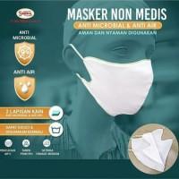 Masker Kain Anti Polusi Rewashable 1 Pcs Warna Putih