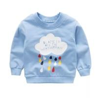 Sweater Jaket Sweatshirt kaos lengan panjang anak 1-8 th pastel hujan