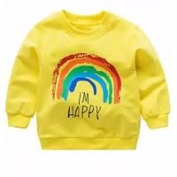 Sweater Jaket Sweatshirt kaos lengan panjang anak rainbow pelangi