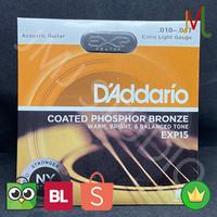 Senar Gitar Akustik D'Addario EXP 15 ukuran 010 daddario accoustic