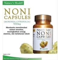 Natures Health Noni Capsules 500 Mg Isi 30 Capsules TERMURAH1
