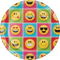 "Piring Kertas 9"" Tema Show Your Emojion - Pesta Ulang Tahun"