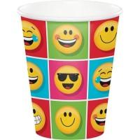 Gelas Kertas 9oz Tema Show Your Emoji - Perlengkapan Pesta Ulang Tahun