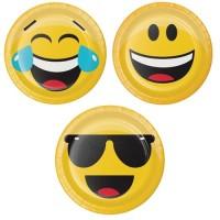 "Piring Kertas 7"" Tema Show Your Emojion - Pesta Ulang Tahun"