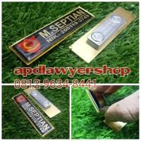 Name Tag Papan Nama Dada Custom 2cm x 8cm Tebal 2mm Magnet PREMIUM