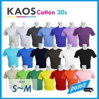 Kaos Polos Super Cotton 30s Unisex Ukuran Kecil [S~M]