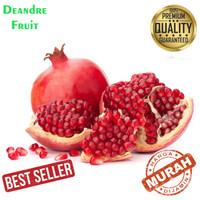 PROMO MURAH 1pcs Buah Delima Merah import Premium Red Pomegranate Best