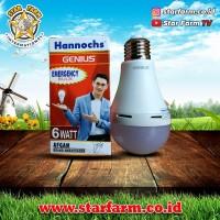 Lampu Hannoch LED Light Sensor 6 Watt Cahaya Putih - Star Farm
