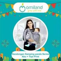 Omiland Gendongan Bayi Samping Topi Print Abu Panda Series - OBG 2311