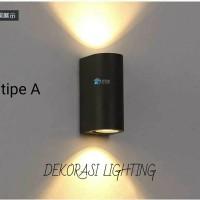 L018/2a lampu dinding waterproof taman piral fiting e27 outdoor wall