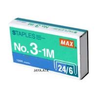 ISI STAPLES STEPLER BESAR NO 3 24/6 REFILL STAPLER STEPLES HD-50 MAX