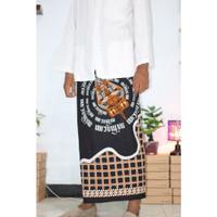 Sarung Batik Printing Motif Aksara Jawa Wayang