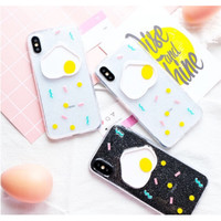 EGG CASE - softcase - All IPhone - Oppo A7 A3S F9 A37 A39 A57 A71