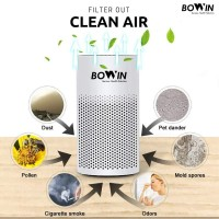 Bowin Air Purifier Oxy Mini – (3in1 True HEPA, ANION, Karbon Filter)
