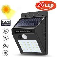 Lampu Taman Tembok Sensor Solar Tenaga Matahari Surya Outdoor 20 LED