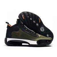 Sepatu Nike Air Jordan 34 Army Green Premium Original