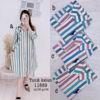 Tunik katun motif garis best seller 11889