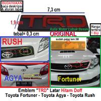 emblem ori logo trd grill & belakang toyota all new fortuner rush agya